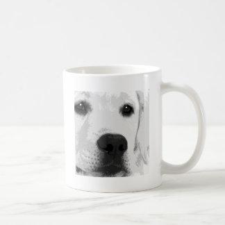A black and white Labrador retriever Coffee Mug