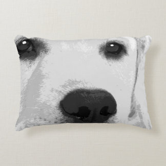 A black and white Labrador retriever Decorative Pillow