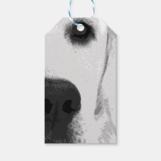 A black and white Labrador retriever Gift Tags