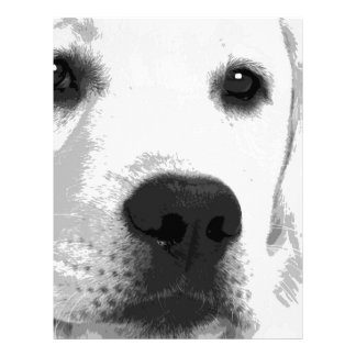 A black and white Labrador retriever Letterhead