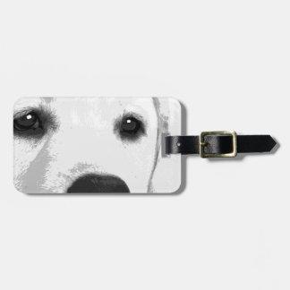 A black and white Labrador retriever Luggage Tag