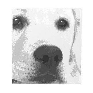 A black and white Labrador retriever Notepad