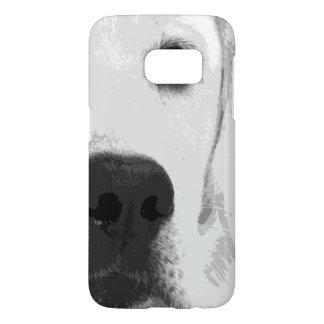 A black and white Labrador retriever Samsung Galaxy S7 Case