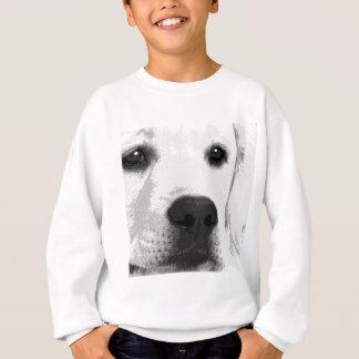 A black and white Labrador retriever Sweatshirt