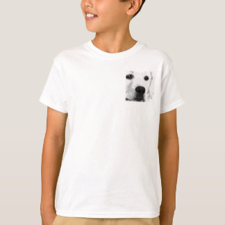 A black and white Labrador retriever T-Shirt