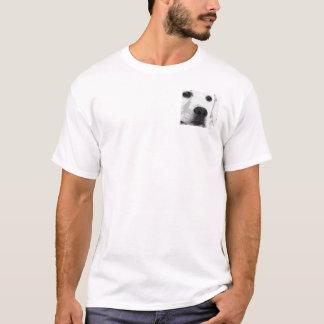 A black and white Labrador retriever T-Shirt
