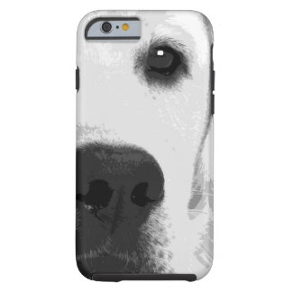 A black and white Labrador retriever Tough iPhone 6 Case