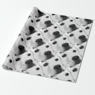 A black and white Labrador retriever Wrapping Paper