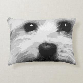 A black and white Maltese Decorative Pillow
