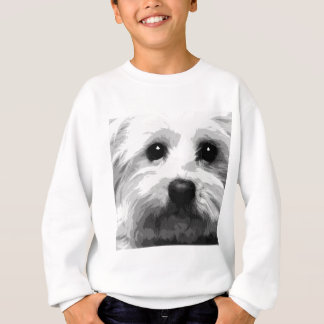 A black and white Maltese Sweatshirt