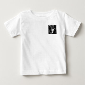 A black and white Miniature Dachshund Baby T-Shirt