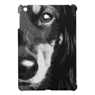 A black and white Miniature Dachshund Cover For The iPad Mini