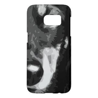 A black and white Miniature Dachshund Samsung Galaxy S7 Case