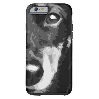 A black and white Miniature Dachshund Tough iPhone 6 Case