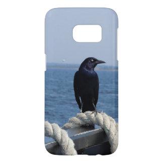 A Black Bird on the Ferry Samsung Galaxy S7 Case