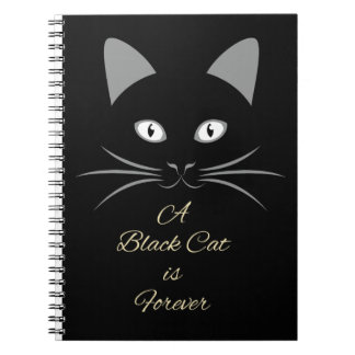 A Black Cat is Forever Spiral Notebook