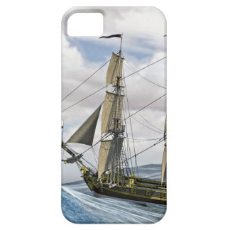 A Black Corvette Sailing Between Large Waves Case For The iPhone 5