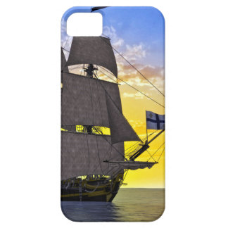 A Black Corvette Sailing Ship Before the Sun Case For The iPhone 5