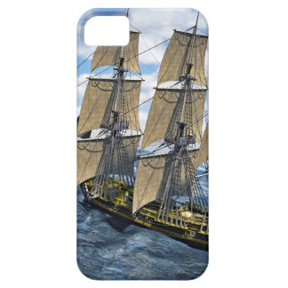 A Black Corvette Saling up a Large Wave iPhone 5 Cover