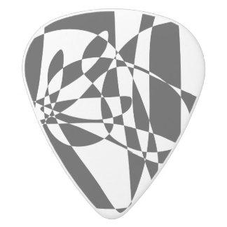 A Black Fish White Delrin Guitar Pick