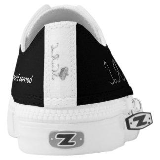 A black shoes with S.C.R.L