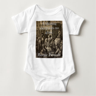 A Bleating Sheep Eats - Basque Proverb Baby Bodysuit