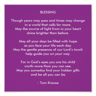 A BLESSING POSTER
