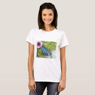 A Blue Butterfly On A Plant T-Shirt