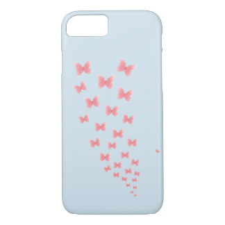 A blue Iphone 7 case with watercolor butteflies
