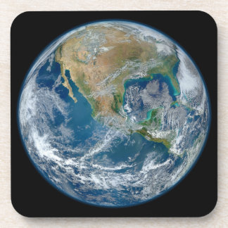 A Blue Marble Image of the Planet Earth Coasters