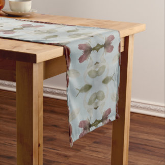 A Blue With Brown Table Runner