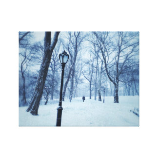 A Blustery Walk In The Park Canvas Print