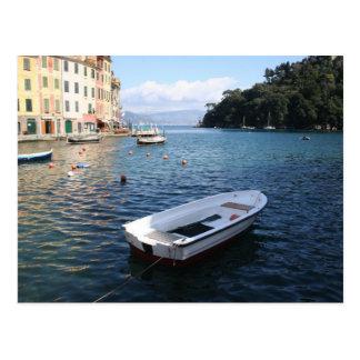 A boat in Portofino Italy Postcard