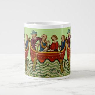 A boating we will go large coffee mug