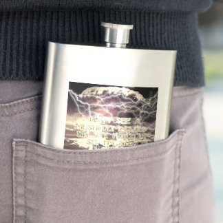 A-bomb Not Worried classic flask