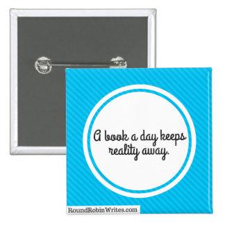 A Book A Day (button) 2 Inch Square Button
