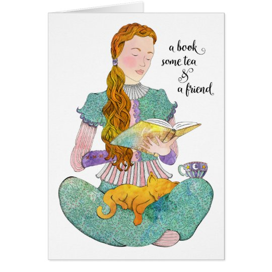 A Book and a Friend Card