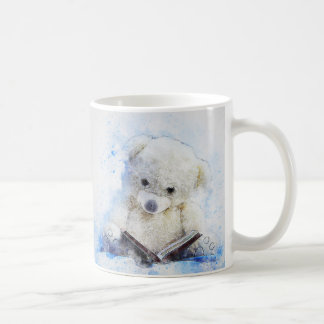 A Book at Bedtime - cute teddy bear design Coffee Mug
