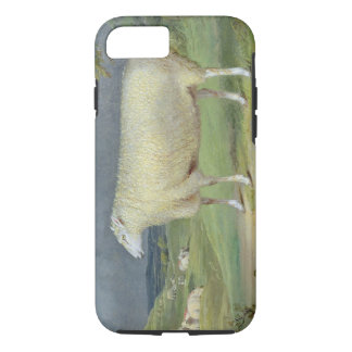A Border Leicester Ewe (oil on canvas) iPhone 7 Case
