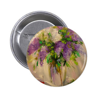 A bouquet of lilacs 2 inch round button