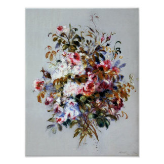 A Bouquet of Roses by Renoir Print