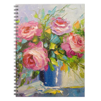 A bouquet of roses spiral notebook