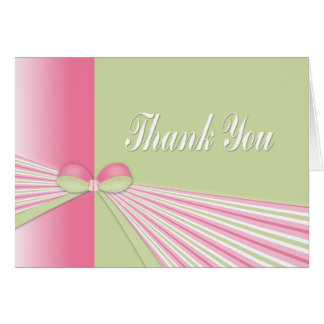 A Bow with Stripes Thank You Card