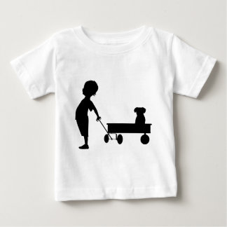 A BOY HIS WAGON AND HIS DOG BABY T-Shirt