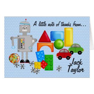 A Boy's Toys Notecards Card