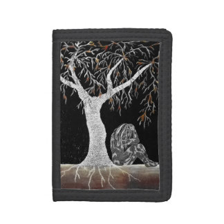 A Branch of Life to Contemplate Trifold Wallet