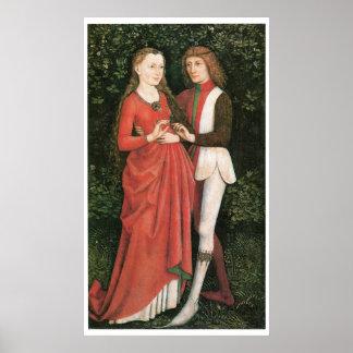 A Bridal Pair ~ artist unknown Print