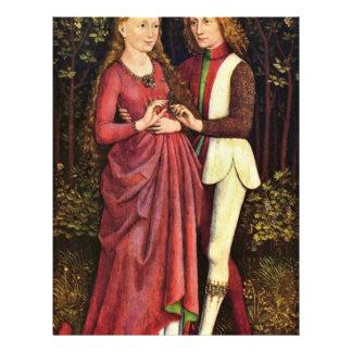 A Bride And Groom By Schwäbischer Meister Um 1470 Letterhead Design