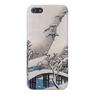 A Bridge in a Snowy Landscape, Ando Hiroshige iPhone 5/5S Cover