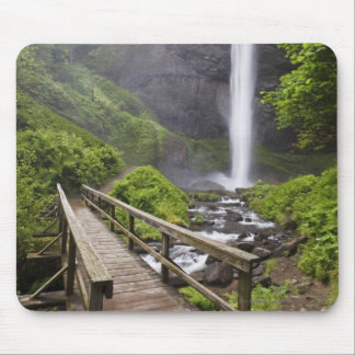 A Bridge Over Columbia River And Latourell Falls Mouse Pad